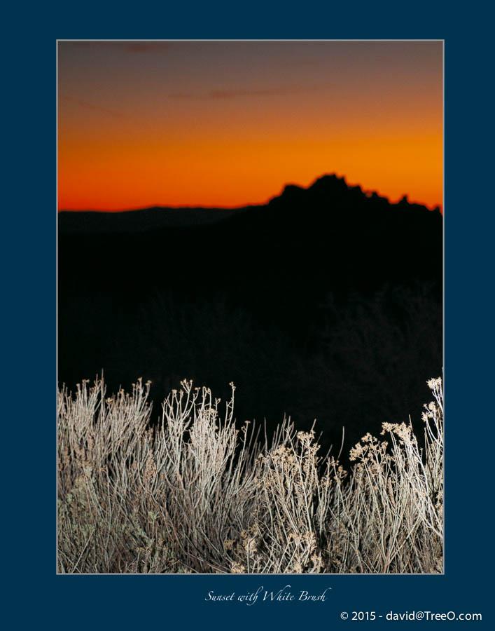Sunset with White Brush