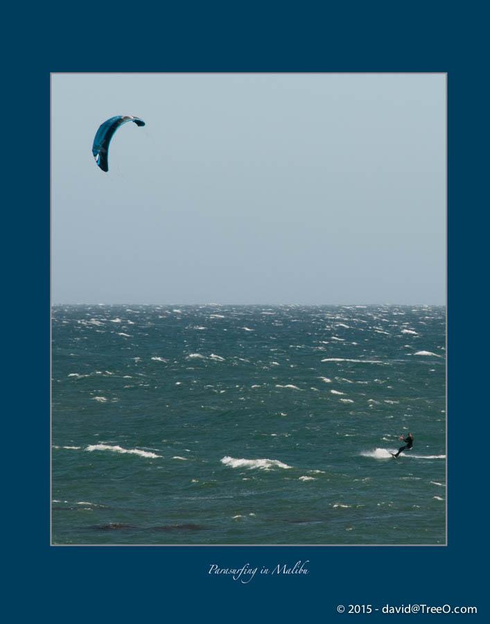 Parasurfing in Malibu