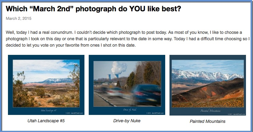 """Which """"March 2nd"""" photograph do YOU like best?"""