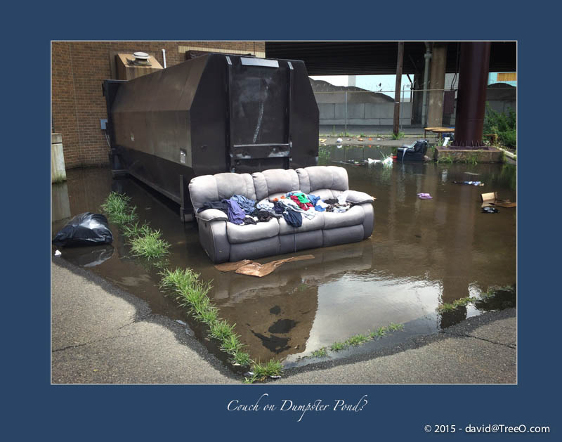 Couch on Dumpster Pond?